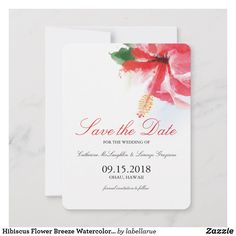 Rustic Save The Dates, Wedding Save The Dates, Good Cheer, Wedding Announcements, Hibiscus Flowers, Zazzle Invitations, Breeze, Paper Texture, Destination Wedding