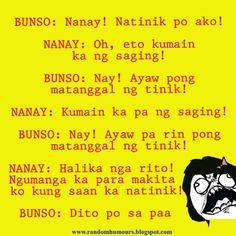 . Pinoy Jokes Tagalog, Tagalog Quotes Hugot Funny, Pinoy Quotes, Hugot Quotes, Bisaya Quotes, Aging Quotes, Quotable Quotes, Qoutes, Funny Work Jokes