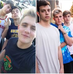 Jake Paul, Anthony Trujillo & Chance Sutton.  When they where younger (left) & now (right)