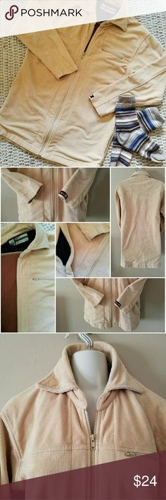"""Prana Corduroy Coat Prana Vintage Corduroy Coat tan LARGE (20"""" UNDERARM TO UA LENGTH 27"""") GOOD CONDITION, no stains, rips no wear - this was dry cleaned. Was always too big. Wasn't wore much to speak of Prana Jackets & Coats"""