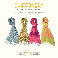 Chiffonery - A scarf for every mood.   http://www.theblingstreet.com/designers/-chiffonery