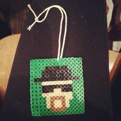 Heisenberg Breaking Bad perler beads by ajillianbeads