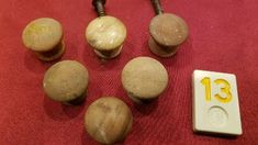 DISCOUNT $7.5 Mixed Lot of 6 Vtg Small Round Wood Knobs Pulls Hardware - Y13 - 220 Antique Drawer Pulls, Knobs And Pulls, Hardware, Antiques, Wood, Antiquities, Antique, Woodwind Instrument, Trees