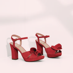 The red suede Adelle sandal has FRIDAY written all over it c8f391c3b