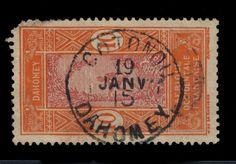DAHOMEY - 1915 - CAD DOUBLE CERCLE  COTONOU / DAHOMEY  SUR N°47