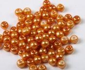 Perle din sticla bej inchis- cca84 buc, 10mm, gaura 1mm