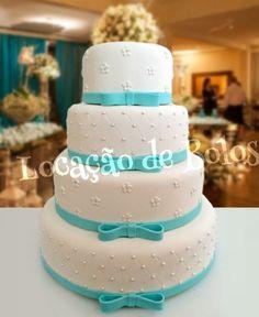 Bolo Cenográfico Azul Tiffany | Locação de Bolos | Elo7 Beautiful Cakes, Amazing Cakes, Cake Decorating With Fondant, Quinceanera Cakes, Birthday Parties, Birthday Cake, Cool Cake Designs, Baking Items, My Perfect Wedding