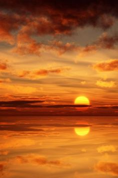 sunset and its reflection