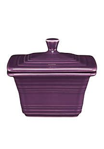 Crafted with art deco influence and the bold, bright color, this square covered box balances well with a variety of interior palettes. Complement your dining decor with this durable essential, and mix and match to create your own style!