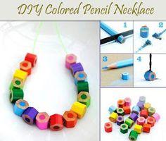 Baby the Kid!: DIY : un collier en crayons de couleur!