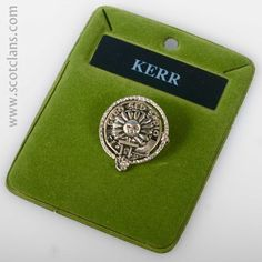 Kerr Clan Crest Small Badge. Free worldwide shipping available