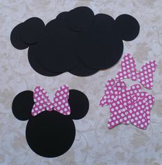 6 Minnie Mouse Head Shapes with Big Polka di sandylynnbscrapping