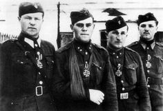 Slovak soldiers, recipients of the Iron cross class. Army Uniform, Character Poses, Portraits, Volunteers, Puppet, World War Ii, Skeleton, Crime, Germany
