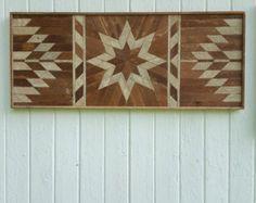 Reciclado de madera de la pared arte  decoración  montañas
