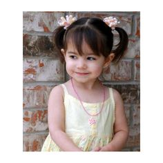 Photos of Little Girl Hairstyles great for flower girls and more! ❤ liked on Polyvore featuring kids, baby, people, children and girls