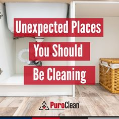 Although it's often used as cleaning supply storage, we don't always think to clean under the sink. Be sure to throw away any grimy sponges or rags and expired products. Check for any leaks or clogs in the pipes, and finally, wipe down the area under and around the sink to avoid mold