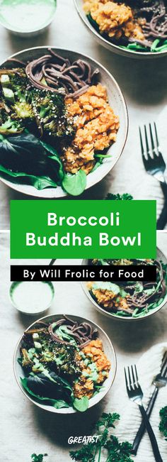 7. Broccoli Buddha Bowl #greatist http://greatist.com/eat/healthy-comfort-food-recipes-for-vegetarians