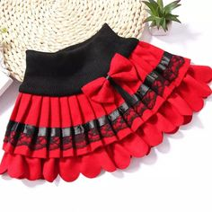 Cheap girls winter skirts, Buy Quality skirt children directly from China pleated skirt woolen Suppliers: 2017 The Latest Design Girls winter skirt children lace bow pleated skirts woolen skirt Korean wholesale 2 color Red black Toddler Skirt, Baby Skirt, Toddler Outfits, Kids Outfits, Little Girl Skirts, Skirts For Kids, Little Girl Dresses, Baby Dress Design, Baby Girl Dress Patterns