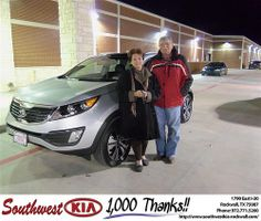 Happy Anniversary to Richard Huie on your 2012 #Kia #Sportage from Donald Weintraub and everyone at Southwest KIA Rockwall! #Anniversary