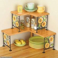 New Kitchen Accessories Vintage Shelves Ideas Kitchen Organisation, Home Organization, Storage Organizers, Kitchen Shelves, Kitchen Storage, Kitchen Counters, Kitchen Racks, Bathroom Storage, Kitchen Island
