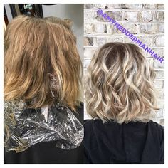 Blonde balayage. Aveda color and finisher