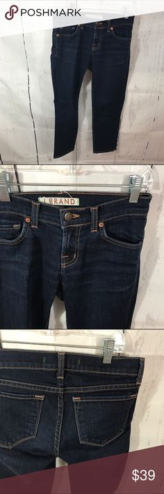 """❤❤ INK CROPPED JEANS B19 Condition: Euc Approximate measurements (laying flat): 14"""" bust 29.5"""" length 22.5"""" inseam  Item location: bin 19   **bundles save 10%** no trades/no modeling/no asking for lowest J Brand Jeans Ankle & Cropped"""