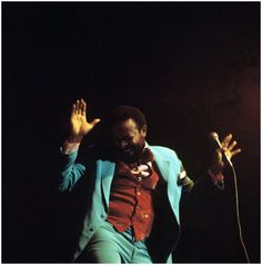 Marvin Gaye performs on stage at the Royal Albert Hall, London,1976 (Photo David Redfern)