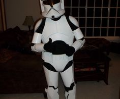 This Instructable will show you how to build a suit of Clone Armour out of ordinary foam, cardboard, and duct tape. This particular suit was constructed for my 12-year-old step-brother, using an action figure as reference. A few pieces are missing (such as the hand guards, ab plate, and thermal detonator) but the look is definitely conveyed. From start to finish, this project took about a month and-a-half to complete. I can't accurately determine a budget, as I already had several of the…