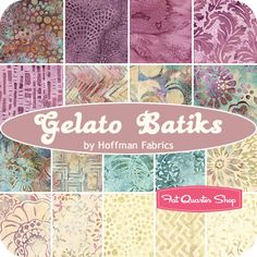 Gelato Batiks Fat Quarter Bundle Hoffman Fabrics - Fat Quarter Shop