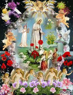 Catholic Pictures, Pictures Of Jesus Christ, Merry Christmas Gif, Christmas Angels, Blessed Mother Mary, Blessed Virgin Mary, Good Friday Images, Heaven Is Real, Birthday Wishes Flowers