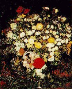 Vincent van Gogh. Chrysanthemums and Wild Flowers in a Vase. Paris: Autumn 1887