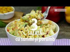 Top 3 cele mai delicioase salate cu porumb – uimiți-vă oaspeții cu aceste noi delicii!| SavurosTV - YouTube Romanian Food, Potato Salad, Cooking Recipes, Mai, Ethnic Recipes, Youtube, Salads, Chef Recipes
