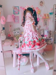New Dress Pink Pastel Shoes 70 Ideas Harajuku Fashion, Kawaii Fashion, Lolita Fashion, Cute Fashion, Kawaii Dress, Kawaii Clothes, Pastel Shoes, Pastel Pink, Pastel Room