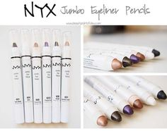 NYX Jumbo Pencils - Review & Swatches  Beauty Point Of View #makeup #eyeliner #review #beauty