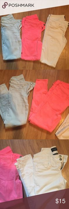 American eagle bundle Teal 0 : Pink 2 : White 2: 🚫 Price is firm / 🚫 no trades. American Eagle Outfitters Jeans