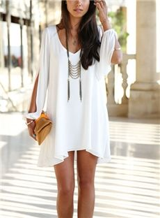 Fashion&Sexy Loose V-Neck Casual Dress