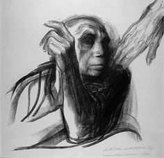 """A chamada da Morte"". Käthe Kollwitz."