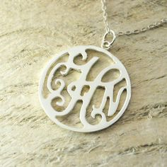 name necklace monogram necklace name pendant alloy or 925 sterling silver hand stampednecklace personalized customized necklace a good gift on Etsy, $9.99