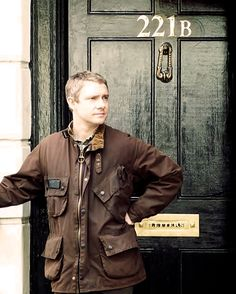 John at 221B Baker Street. It would be great if I could somehow creat a 221B Baker Street...