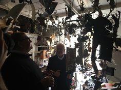Sospensione, O'Cafè and Uccellini, designed by Riccardo #Dalisi for Slamp, light up the exclusive #exhibition organized by ADI Associazione per il Disegno Industriale-section Puglia and Basilicata, dedicated to the artist at #MUST - Museo storico Città di Lecce www.slamp.com