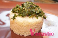 iCook: Meatless Efo & White Rice : Efo and rice, ready to eat