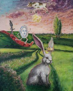 Rabbit, Scene, Paintings, Create, Awesome, Happy, Instagram, Art, Bunny