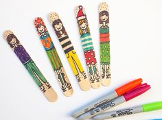 MollyMoo – crafts for kids and their parents Popsicle Stick Dolls - that Ice-Skate!