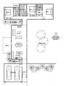 Best Home Design Layout Floor Plans Laundry Ideas Modern House Plans, Small House Plans, Modern House Design, House Floor Plans, Green Home Design, One Bedroom House Plans, Passive House Design, Garage House Plans, The Plan