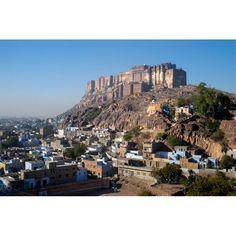 North India ~ Meherangarh Fort sits on a mighty rock dominating Jodhpur