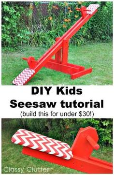 How To Build a Kids Seesaw For Under $30 (Tutorial)