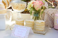 Pastel Baby Shower with SO MANY PRECIOUS IDEAS via kara's party ideas! full of decorating ideas, dessert, cake, cupcakes, favors and more! K...