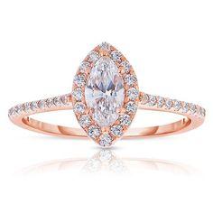 Rm1301m-14k Rose Gold Marquise Cut Halo Diamond Engagement Ring - RM1301M-F4. Rose gold engagement ring in Beaumont TX.