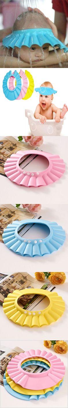 Adjustable EVA Soft Baby Shampoo Shower Cap Baby Care Bath Protection For Kid