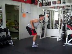 Double Arm Bent Over Dumbbell Row.